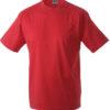 T Shirt Werbung auf Round T Heavy - red