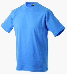 T-Shirt T-Shirt Werbung auf Round-T Heavy - aqua