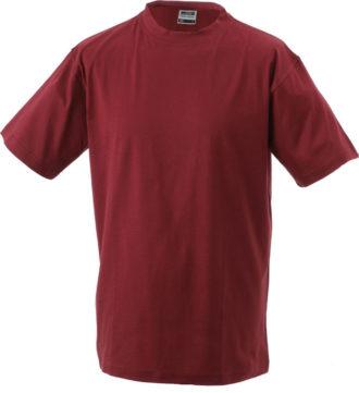 T-Shirt Werbung auf Round-T Heavy - wine