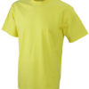 T-Shirt Werbung auf Round-T Heavy - yellow