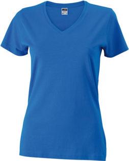 Werbemittel Damen T-Shirt V-Ausschnitt - royal