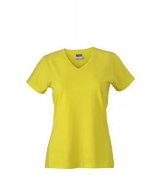 Werbemittel Damen T-Shirt V-Ausschnitt - yellow