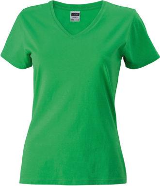 Werbemittel Damen T-Shirt V-Ausschnittn V-Ausschnitt T-Shirtn V-Ausschnitt T-Shirt  - frog