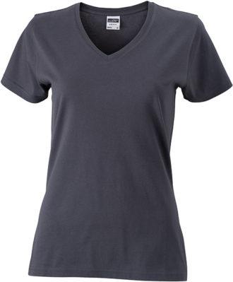 Werbemittel Damen T-Shirt V-Ausschnitt - graphite