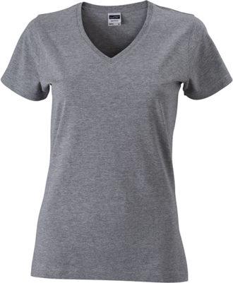 Werbemittel Damen T-Shirt V-Ausschnittn V-Ausschnitt T-Shirt - grey heather