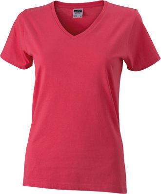 Werbemittel Damen T-Shirt V-Ausschnitt - light berry