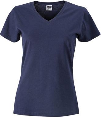 Werbemittel Damen T-Shirt V-Ausschnitt - navy