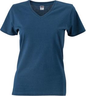 Werbemittel Damen T-Shirt V-Ausschnittn V-Ausschnitt T-Shirt - petrol