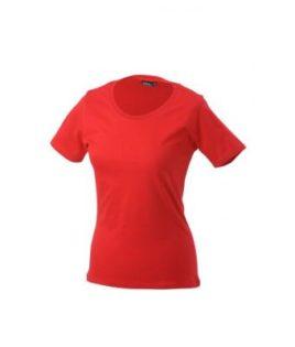 Ladies Basic T Shirt Damenshirt - red