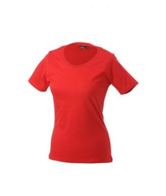 Ladies Basic T Shirt Damenshirt - red