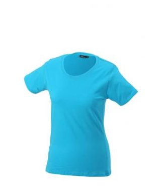 Ladies Basic T Shirt Damenshirt - turquoise