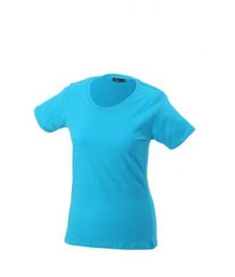 Ladies Basic T Shirt Damenshirt - turquoise