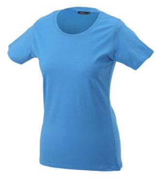 Ladies Basic T Shirt Damenshirt - aqua