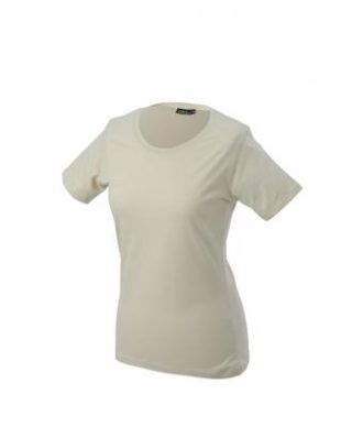 Ladies Basic T Shirt Damenshirt - stone