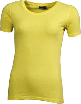 Ladies Basic T Shirt Damenshirt - yellow