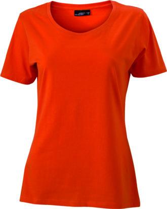 Ladies Basic T Shirt Damenshirt - dark orange