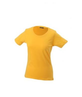 Ladies Basic T Shirt Damenshirt - gold yellow