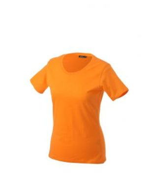 Ladies Basic T Shirt Damenshirt - orange