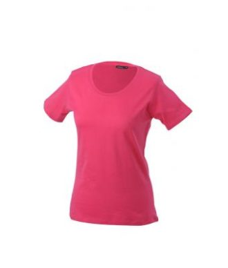 Ladies Basic T Shirt Damenshirt - pink