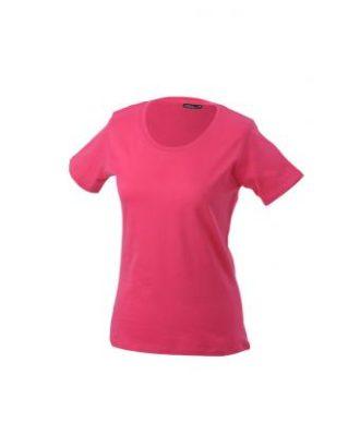 Ladies Basic T Shirt Damenshirt - pink