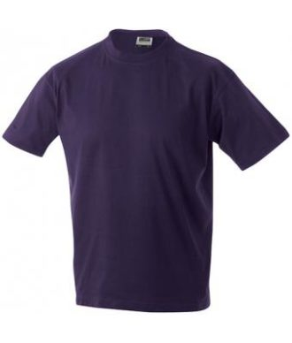Kinder T-Shirt Junior Basic-T - aubergine