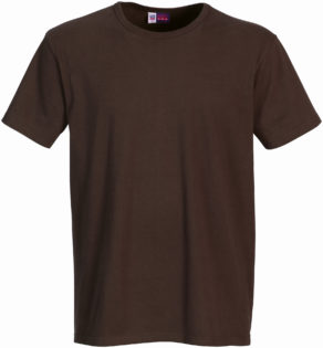 Werbeartikel T Shirt Round Medium - braun