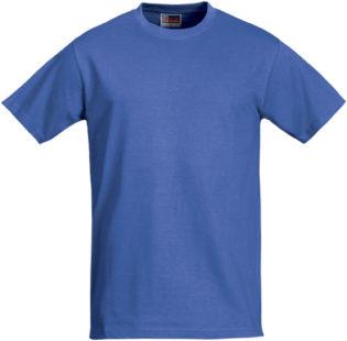 Werbeartikel T Shirt Round Medium - azurblau