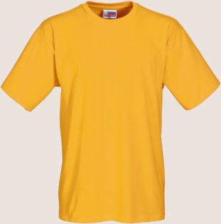 Werbeartikel T Shirt Round Medium - goldgelb