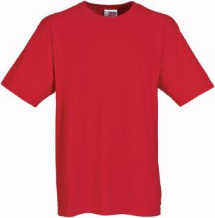 Werbeartikel T Shirt Round Medium - rot