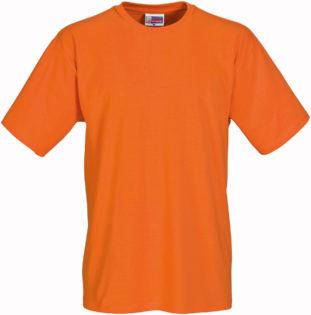Werbeartikel T Shirt Round Medium - orange