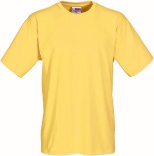 Werbeartikel T Shirt Round Medium - gelb