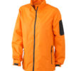 Werbeartikel Sportjacken Ladies Windbreaker - orange/carbon