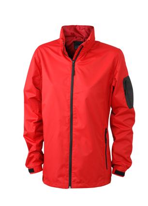 Werbeartikel Sportjacken Ladies Windbreaker - red/black