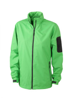 Werbeartikel Sportjacken Ladies Windbreaker - lime green/carbon