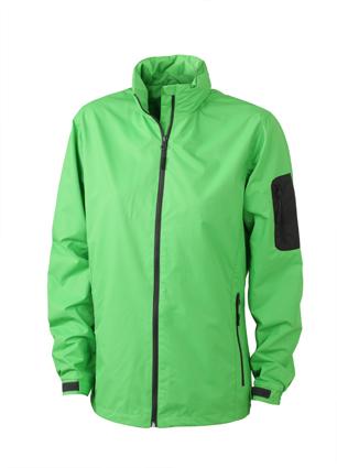 Werbeartikel Sportjacken Ladies Windbreaker - lime green/carbon