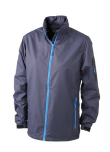 Werbeartikel Sportjacken Ladies Windbreaker - navy/aqua