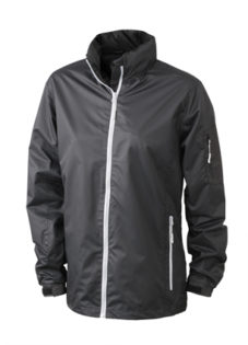 Werbeartikel Sportjacken Ladies Windbreaker - black/silver