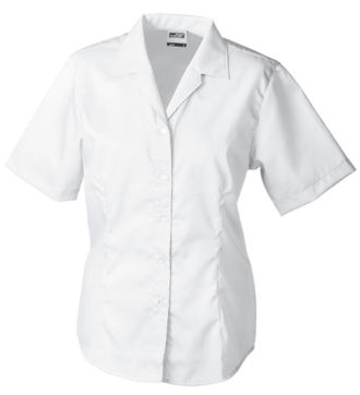 Werbemittel Bluse Business kurzarm - white
