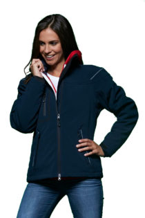 Werbeartikel Softshell Jacken Ladies Winter - in action