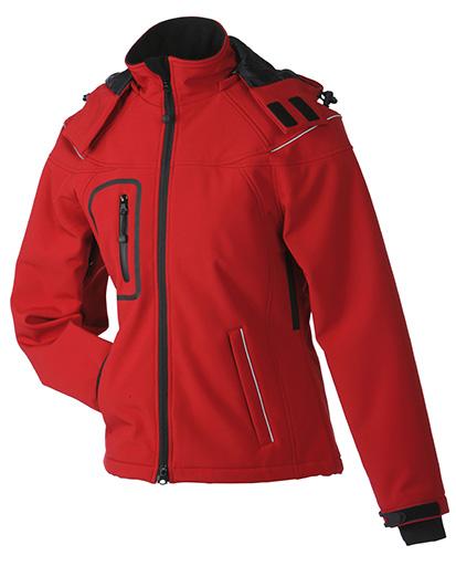 Werbeartikel Softshell Jacken Ladies Winter - red