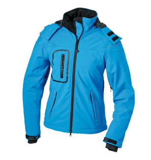 Werbeartikel Softshell Jacken Ladies Winter - aqua
