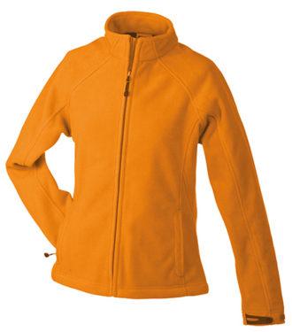 Werbeartikel Jacke Ladies Bonded Fleece - orange/carbon