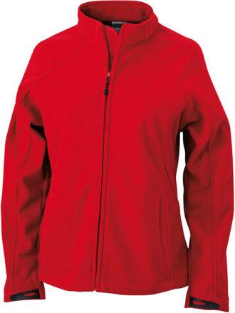 Werbeartikel Jacke Ladies Bonded Fleece - red/carbon