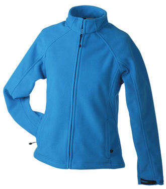 Werbeartikel Jacke Ladies Bonded Fleece - aqua/navy