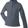 Werbeartikel Jacke Ladies Bonded Fleece - carbon/black