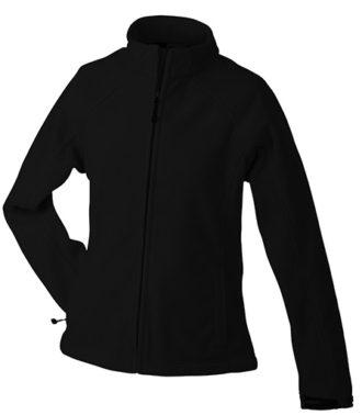 Werbeartikel Jacke Ladies Bonded Fleece - black/red