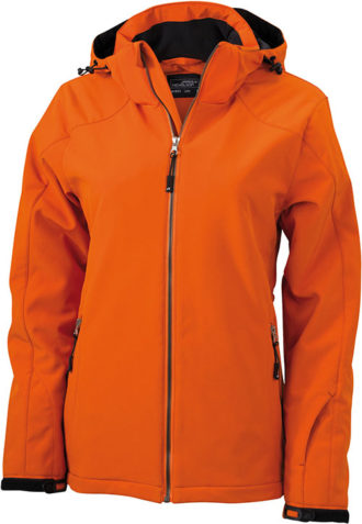 Wintersport Jacket Ladies James and Nicholson - dark orange