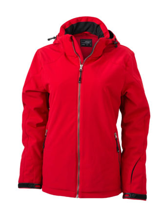 Wintersport Jacket Ladies James and Nicholson - red