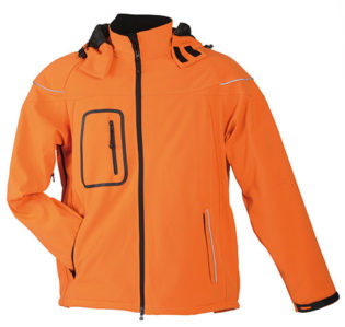 Softshelljacke Winter Jacket Men - orange