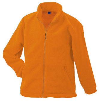 Werbeartikel Fleece Jacken James Nicholson - orange